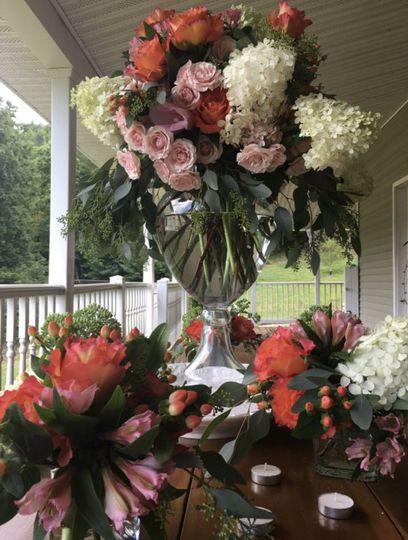 Flower arrangement for spring collection