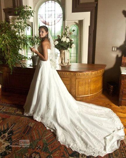 Bride in bride's dressing balcony
