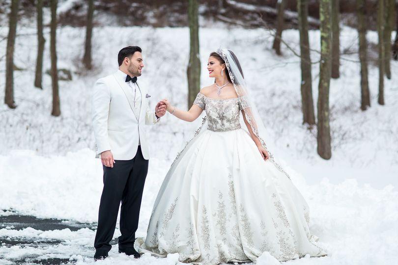 Bride and Groom, Winter Wedding