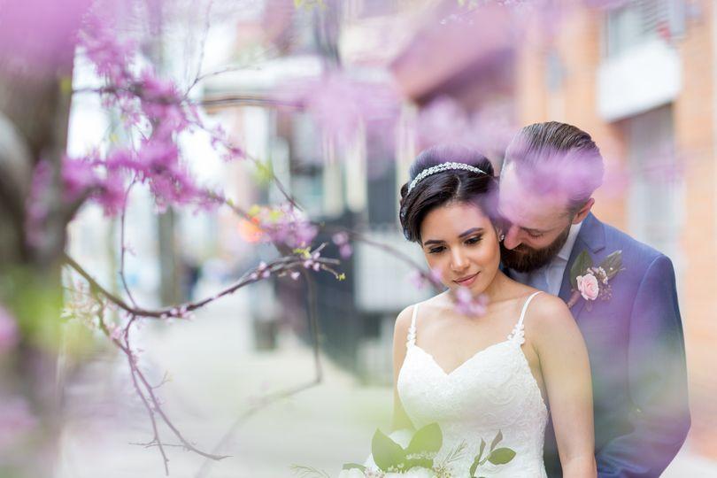 Spring wedding, cherry blossom.