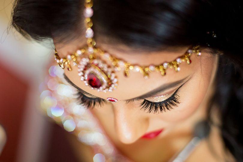 Indian wedding jewelry, getting ready photos.
