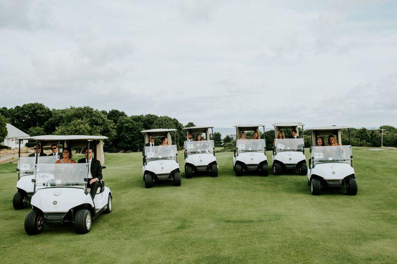 Golf carts | Credit Amy Spirito Photography