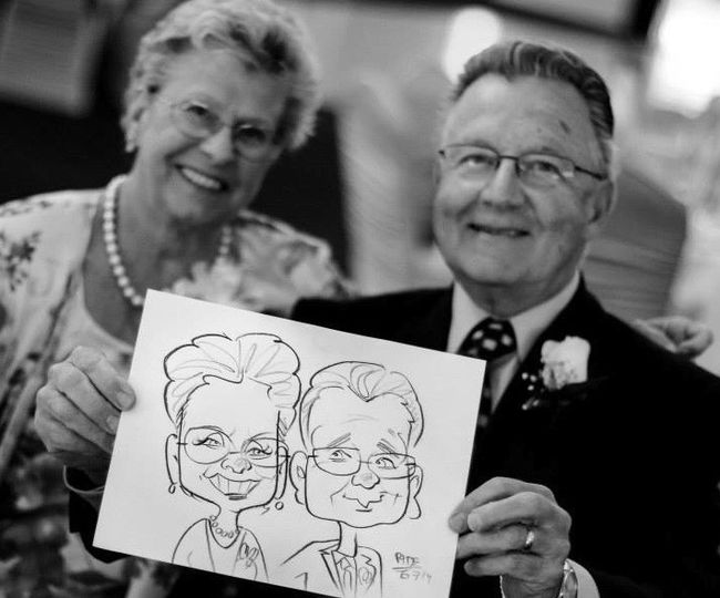 Adam Pate's 60 Second Strolling Speed Sketchers Caricatures and Entertainment