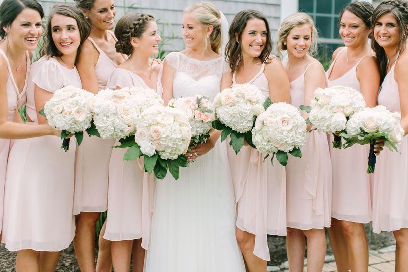 Pretty white bouquets