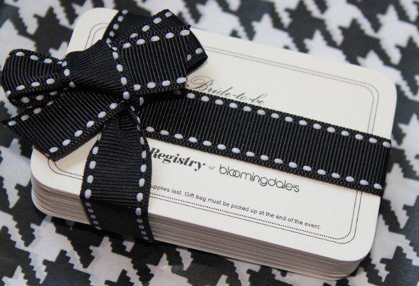 Bloomingdale's Bridal Gift Bag Redemption Cards