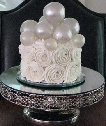 wedding bubbles cak