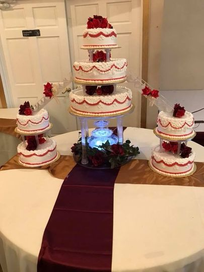 Wedding cake on display
