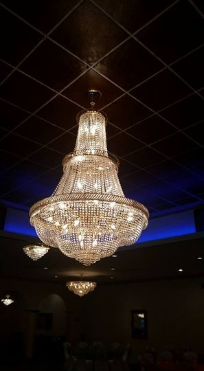 Sparkling chandeliers
