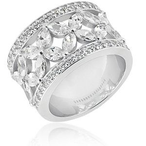 This elegant ladies diamond anniversary band combines the brilliance of round cut diamonds with the...