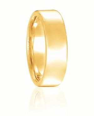 This bold European domed wedding band is perfect for the man or woman that wants something...