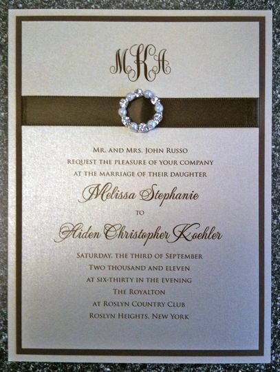 Brown invitation card