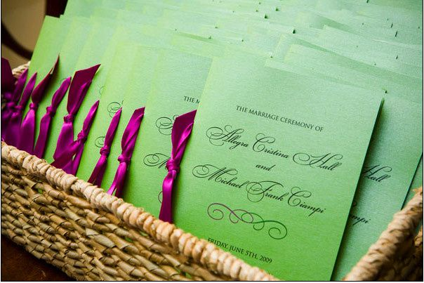 A basket of invitations