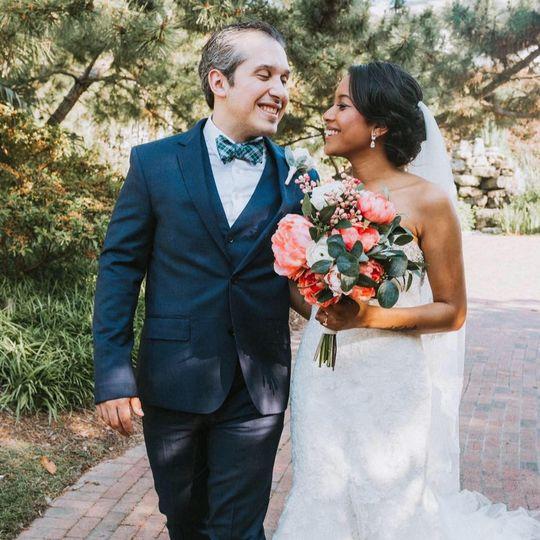 Radiant african-american bride
