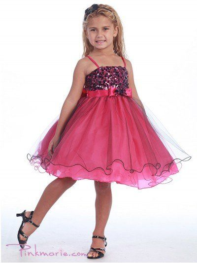 Fushia Metallic Bodice and Mesh Overlaid Skirt Girl Dress Price: $59.99 Product Code: CA0733BFS...