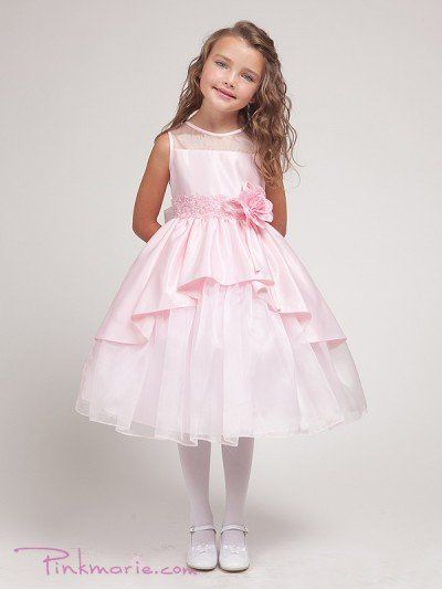 Pink Elegant Bridal Satin Girl Dress Price: $51.99 Product Code: PP1214BPK Your child will be the...