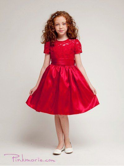 Red Elegant Laced Bodice Trimmed Girl Dress Price: $37.99 Product Code: PP1216BRD Absolutely...