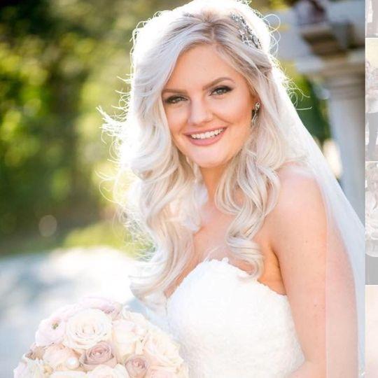 Fresh wedding makeup