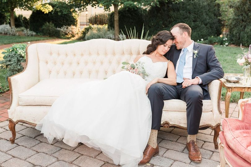Newlyweds on the couch