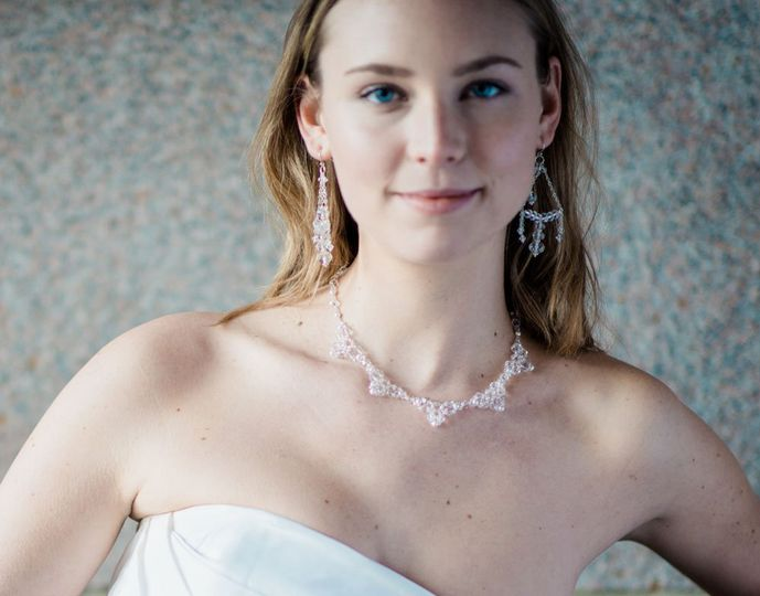 Marquesa Crystal Necklace - ornate, hand-beaded, necklace of Swarovski faceted crystals and your...