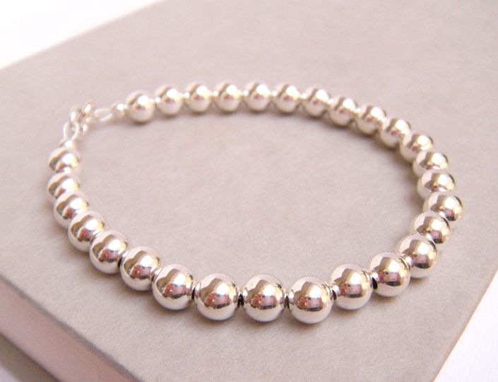 The Newbury Silver Bridal Bracelet is a simple, yet elegant strand of pure, seamless sterling silver...
