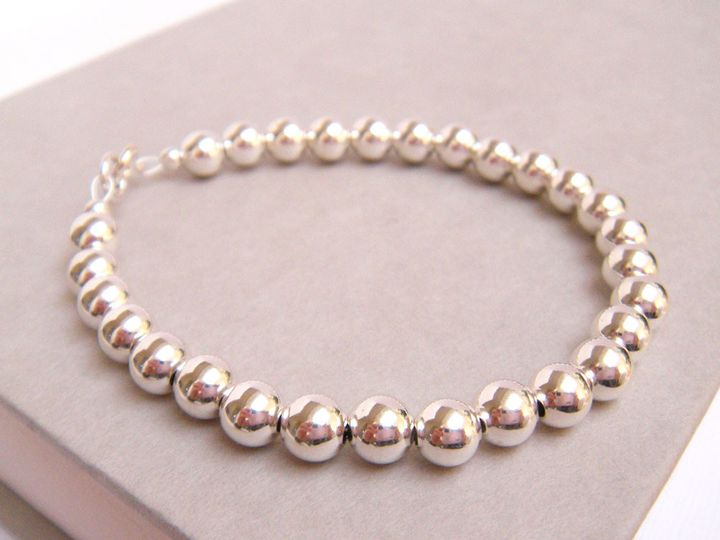 Tmx 1366057550975 Silver Ball Bracelet Newbury 1000 1 Poughquag wedding jewelry