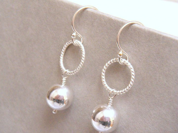 Tmx 1366057565638 Silver Ball Earrings Newbury 1000 2 Poughquag wedding jewelry