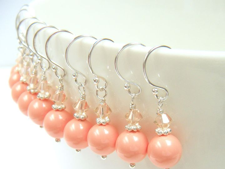 Tmx 1385154524935 Present Moment Coral Earrings 1000  Poughquag wedding jewelry