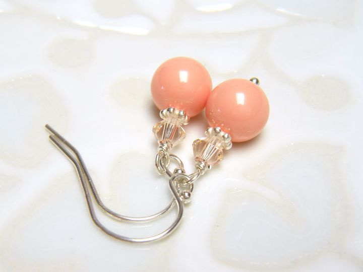 Tmx 1385154673307 Present Moment Coral Earrings 1000  Poughquag wedding jewelry