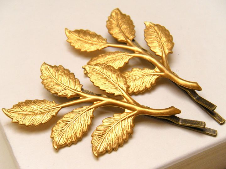 Tmx 1385154950014 Brass Leaf Hair Pins 1000  Poughquag wedding jewelry
