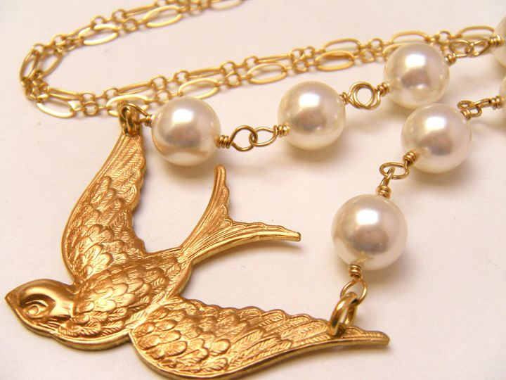 Tmx 1385155420239 Bird Bridal Necklace 1000  Poughquag wedding jewelry