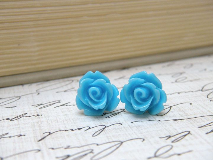 Tmx 1385219219019 Sky Blue Flower Earrings 1000  Poughquag wedding jewelry