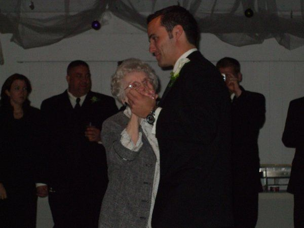 Groom dancing with his grandmother