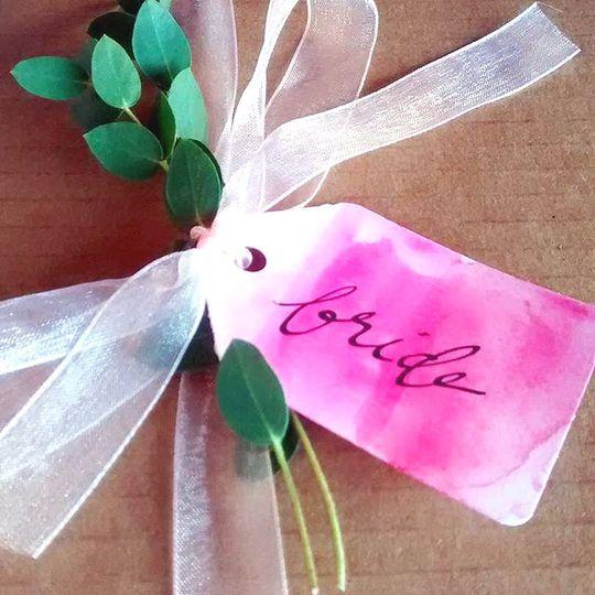 bride tags