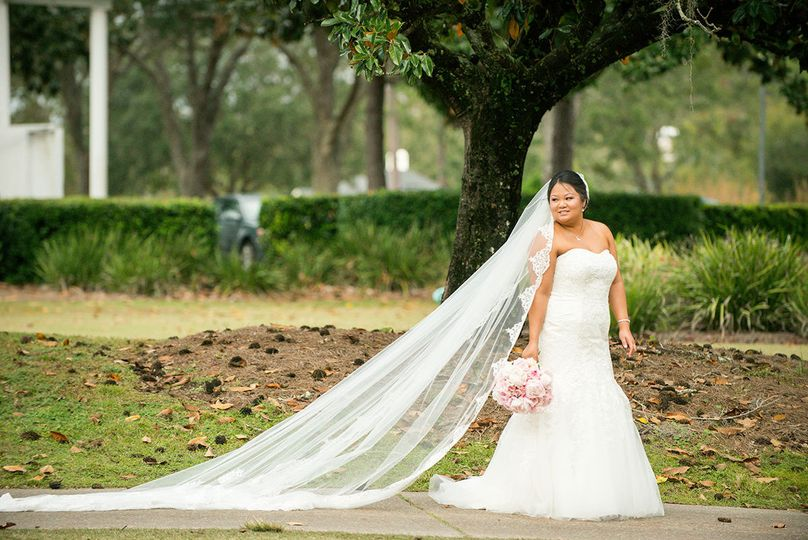 Bride on the golf course