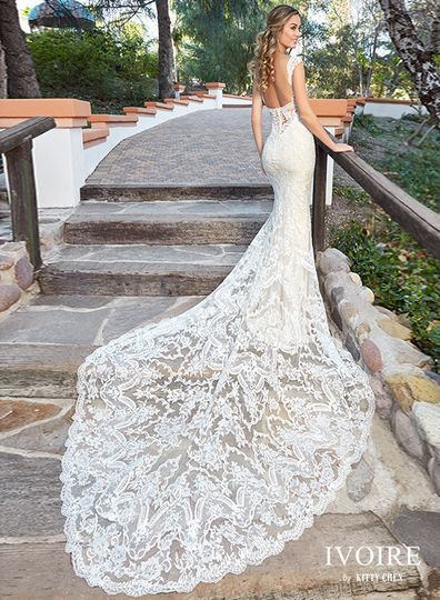 Long lace wedding dress
