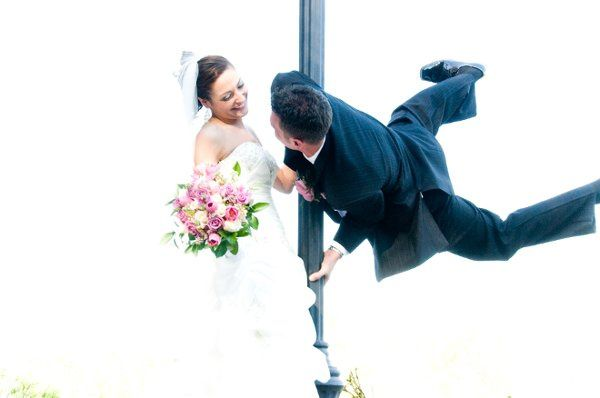 Flying high on their wedding day! Lamberts Castle NJ