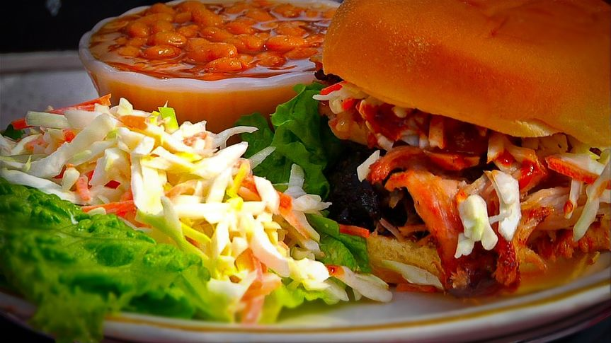 Hickory smoked, hand pulled pork, topped with coleslaw for a South Carolina style taste.
