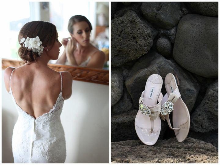 north shore oahu wedding bride getting ready