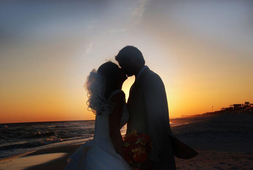 Sunset wedding (last photo of the day) Panama City Beach, Florida