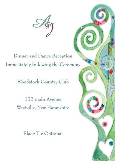 All Invitations are custom made to order. Our art studio is happy to work with you to create a...