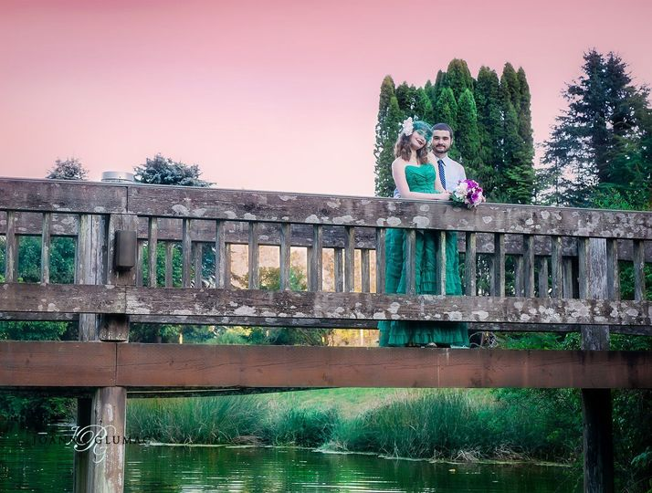 Couple by the bridge