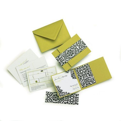 Named for my first client! This pocketfold invite is bold and elegant!