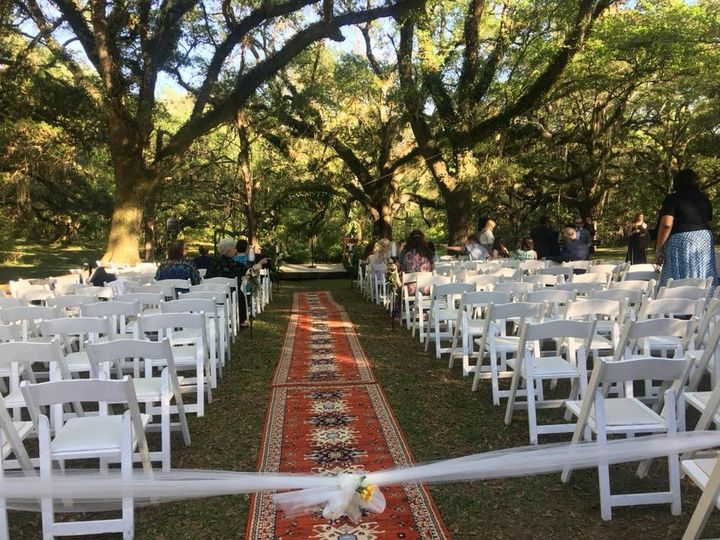 Ceremony among oaks
