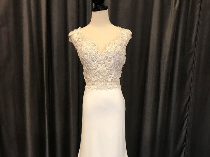 Tmx Beaded Bodice Eddy K 51 29040 Waltham wedding dress