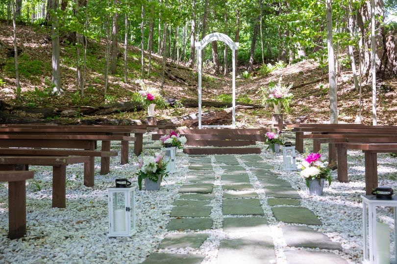 Ceremony site from aisle