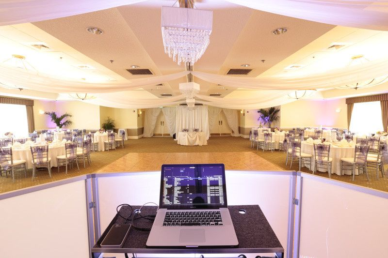 Grand ballroom (view from dj booth)