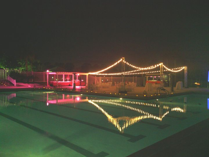 Rehearsal dinner by our pool