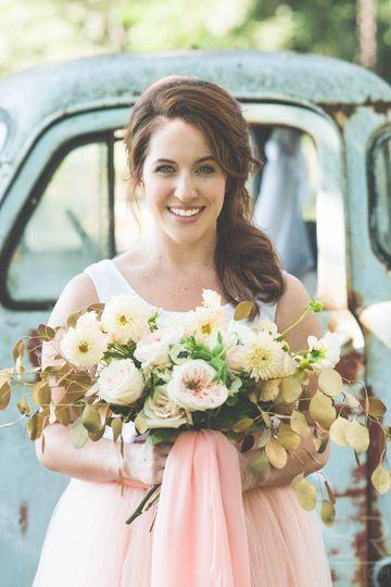 Smiling bride | Ten Point Floral Design