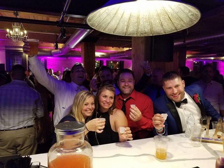 Guests enjoying the bar