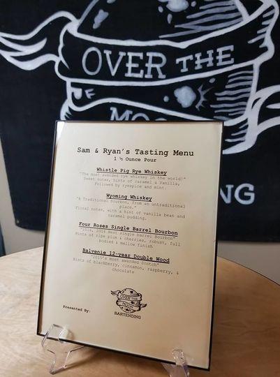 Sample tasting menu